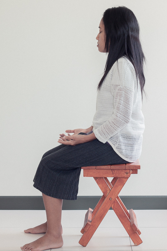 how to sit during an initiation
