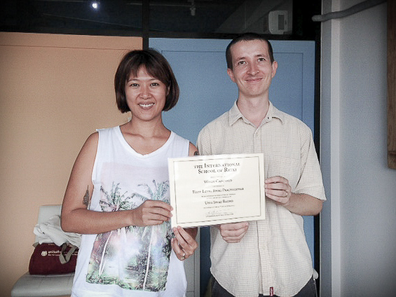 Reiki Course Bangkok 2015 - Windy and Kit